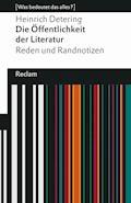 Die Öffentlichkeit der Literatur - Heinrich Detering - E-Book