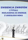 Ewidencja zwrotów z tytułu rozliczenia za energię z ubiegłego roku - Halina Skiba - ebook