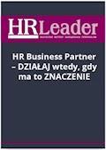 HR Business Partner - działaj wtedy, gdy ma to znaczenie - Anna Bilska-Kublik - ebook