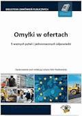 Omyłki w ofertach - Dominika Perkowska, Marcin Czeluśniak - ebook