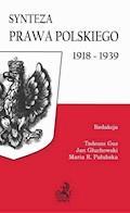 Synteza prawa polskiego 1918-1939 - Tadeusz Guz, Jan Głuchowski, Maria Pałubska - ebook