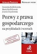 Pozwy z prawa gospodarczego na przykładach i wzorach - Dominika Rydlichowska, Maciej Rydlichowski - ebook