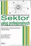 Sektor usług profesjonalnych - Justyna Matysiewicz, Danuta Babińska, Sławomir Smyczek - ebook