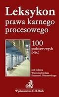 Leksykon prawa karnego procesowego 100 podstawowych pojęć - Wojciech Cieślak, Krzysztof Woźniewski - ebook