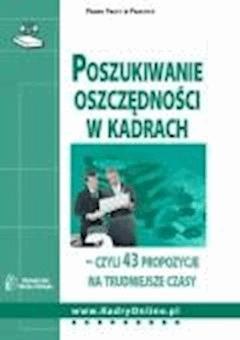 Poszukiwanie oszczędności w kadrach  - Anna Martuszewicz, Magdalena Rapacka-Wojdat, Edyta Marońska - ebook