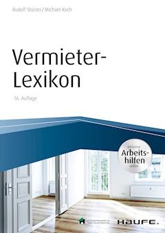 Vermieter Lexikon Mit Arbeitshilfen Online Rudolf Stürzer E Book