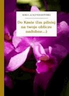 Do Kasie (Im pilniej na twoje oblicze nadobne...) - Sęp Szarzyński, Mikołaj - ebook