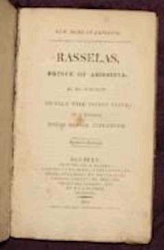 Rasselas, Prince of Abyssinia - Samuel Johnson - ebook