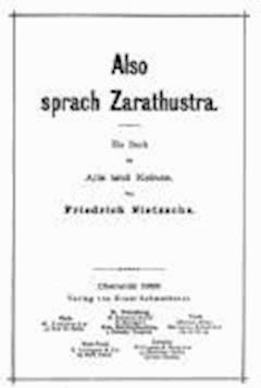 Thus Spake Zarathustra - Friedrich Wilhelm Nietzsche - ebook