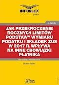 Jak przekroczenie rocznych limitów podstawy wymiaru podatku i składek ZUS w 2017 r. wpływa na inne obowiązki płatnika - Bożena Pęśko - ebook