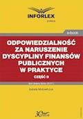Odpowiedzialność za naruszenie dyscypliny finansów publicznych w praktyce – część II - Izabela Motowilczuk - ebook