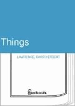 Things - David Herbert Lawrence - ebook