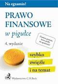 Prawo finansowe w pigułce. Wydanie 4 - Joanna Ablewicz - ebook