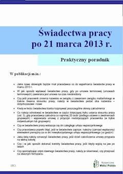 Świadectwa pracy po umowach terminowych od 21 marca 2013 r. - Szymon Sokolik - ebook
