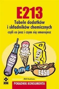 E213. Tabele dodatków iskładników chemicznych - Bill Statham - ebook