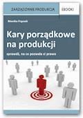 Kary porządkowe na produkcji - Monika Frączek - ebook