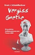 Vergiss Goethe - Ernst J. Schmidlechner - E-Book