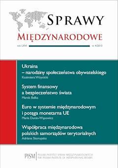 Sprawy Międzynarodowe 4/2013 - Henryk Szlajfer (red.) - ebook