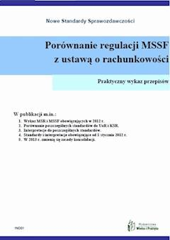 Porównanie regulacji MSSF z ustawą o rachunkowości - Opracowanie zbiorowe - ebook