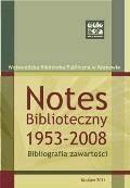 Notes Biblioteczny 1953-2008. Bibliografia zawartości - oprac. Krystyna Kasprzyk - ebook